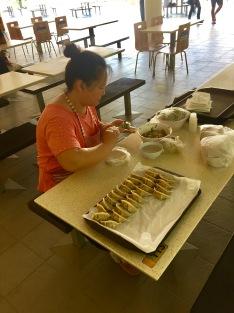 preparazione dei Dumplings